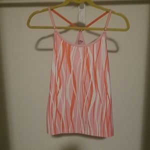 Champion pink, white and orange tank top